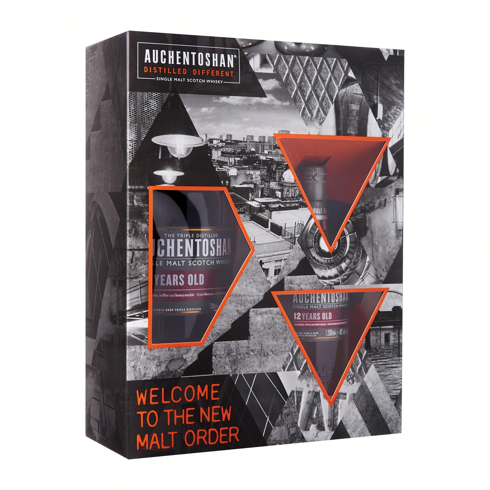 Auchentoshan Auchentoshan 12 Years 700Ml + Auchentoshan 12 Years 200Ml Gift Set With Box - By The Liquor Shop Singapore