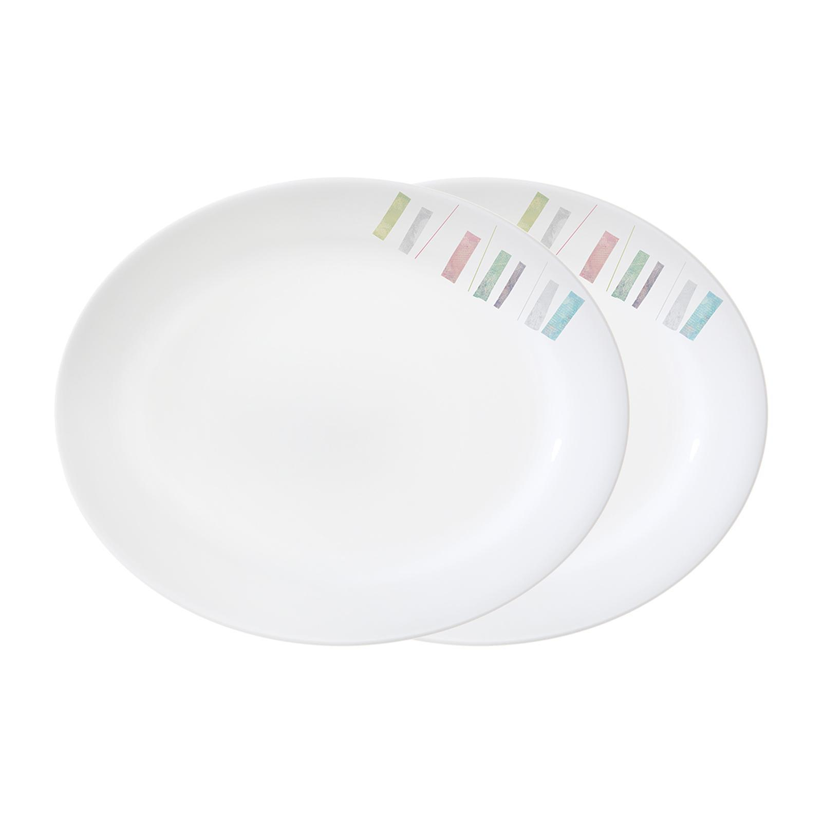 Corelle 2Pc Serving Platter Set (Design: Handicraft)