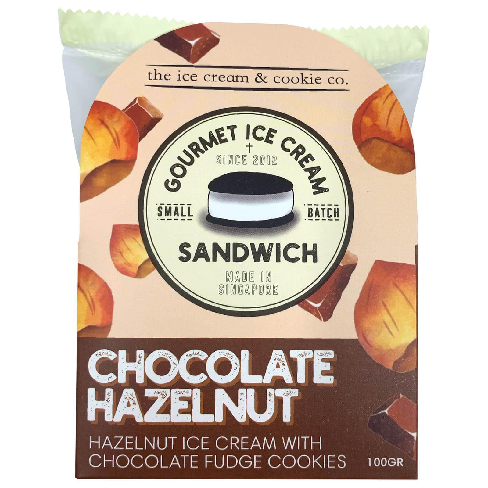 The Ice Cream & Cookie Co. Chocolate Hazelnut Gourmet Sandwich