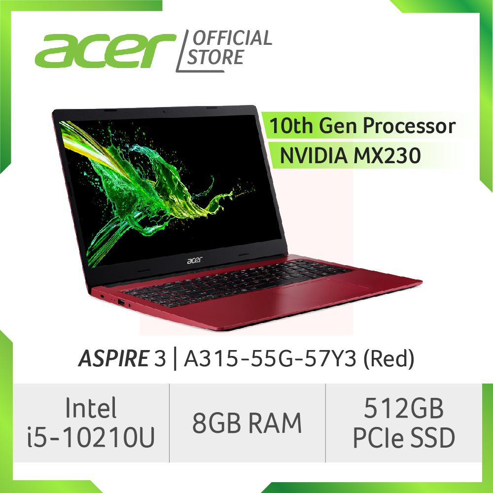 Acer Aspire 3 A315-55G-57Y3(Red) New Laptop with LATEST 10th Gen Intel i5-10210U processor