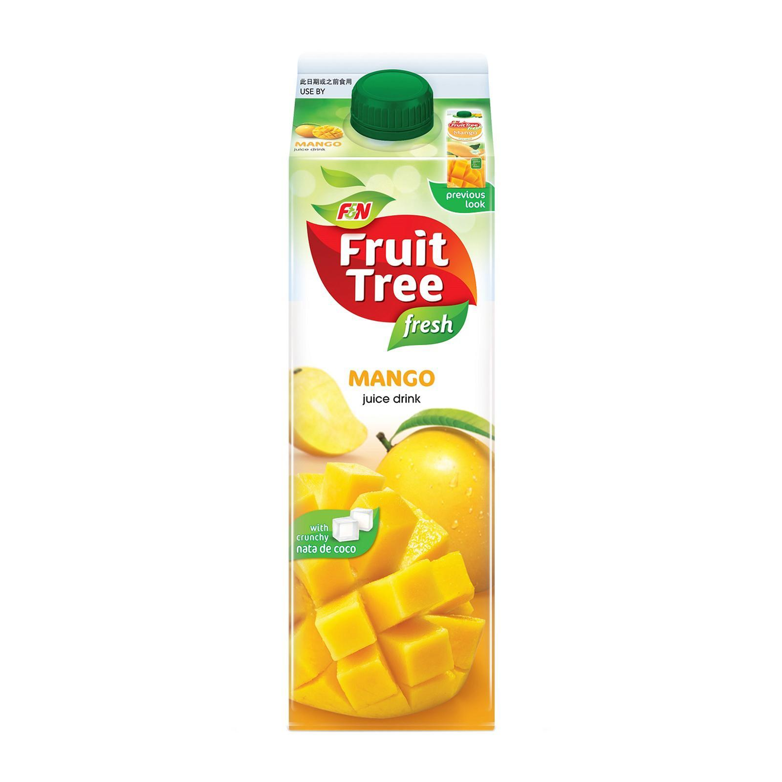F&n Fruit Tree Fresh Mango With Nata De Coco Juice By Redmart.