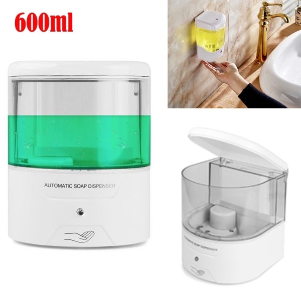 Battery Powered 600ml Wall-Mount Automatic IR Sensor Touch-free Soap Dispenser