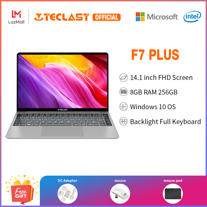 【Teclast Official】F7 Plus Laptop/14.1 inch FHD IPS Screen/Intel Gemini Lake N4100 CPU/Windows 10/8GB RAM+256GB SSD/Dual Band WiFi/1 year warranty