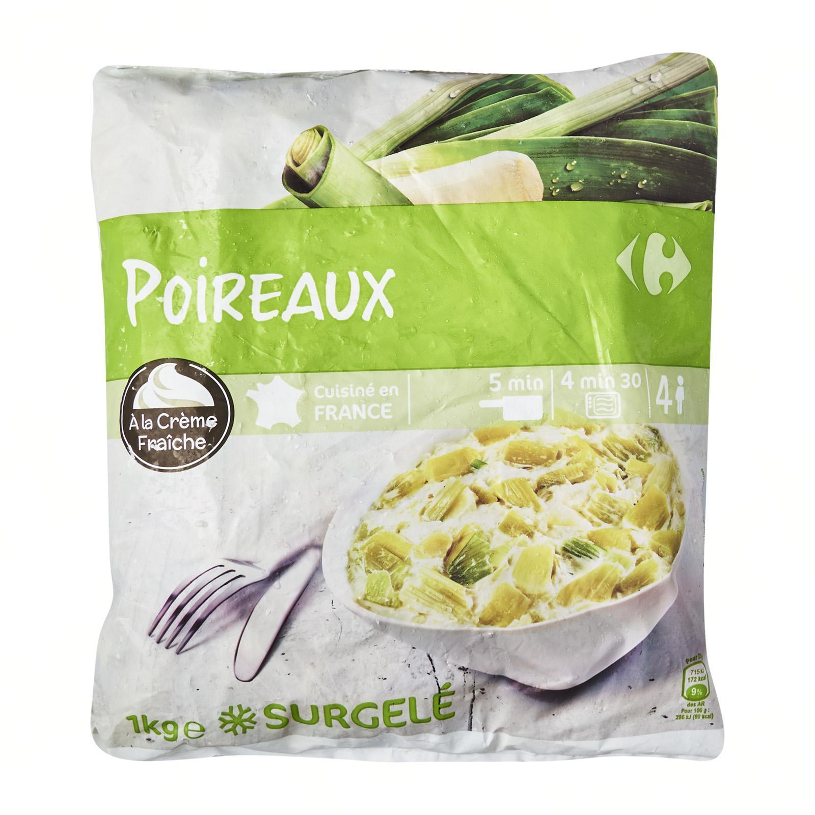 Carrefour Leeks With Sour Cream - Frozen - By Le Petit Depot