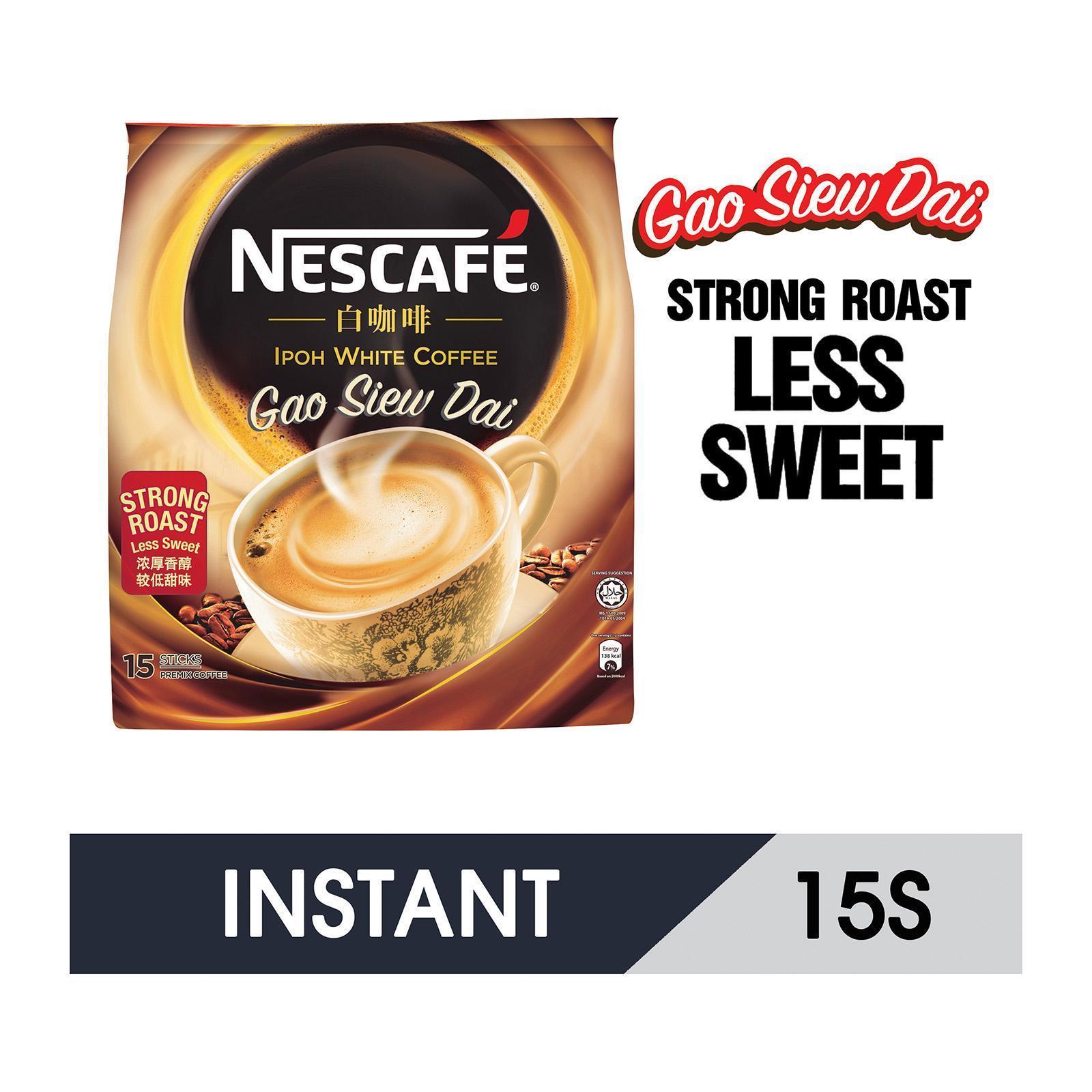 NESCAFE Ipoh White Coffee Gao Siew Dai (Less Sweet) 15sX36g