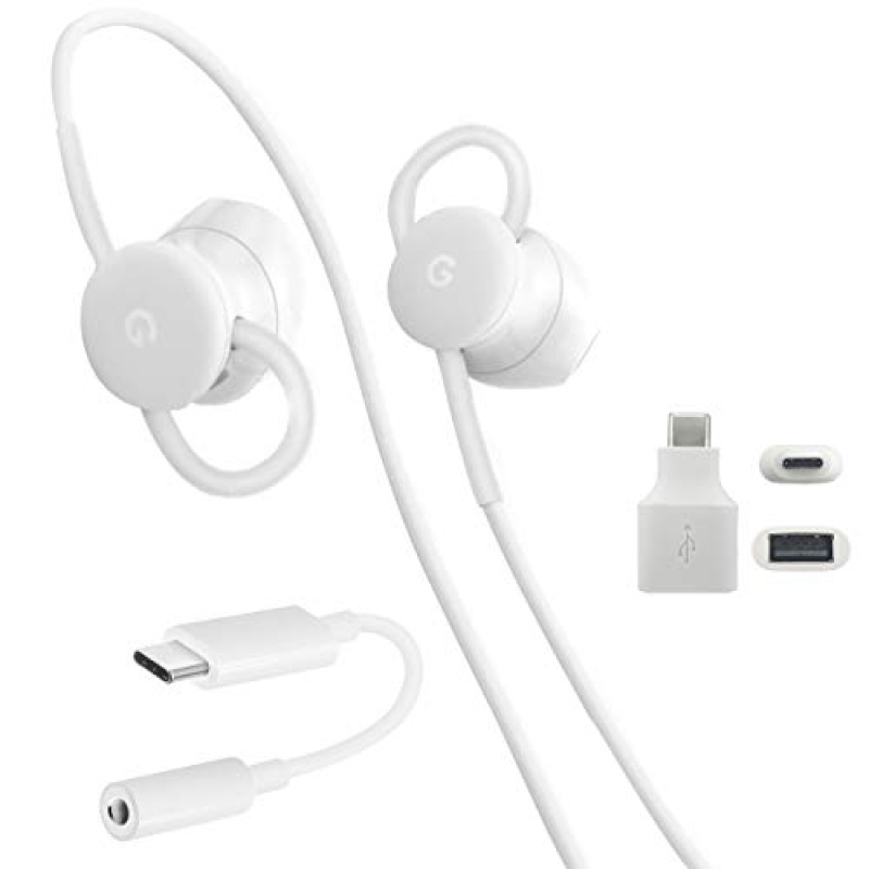 Google USB-C Earbuds, USB-C to 3.5mm Adapter, USB-C to USB 3.0 Adapter, for Google 2nd-4th Gen Pixel Devices - Accessory Combo Kit Singapore