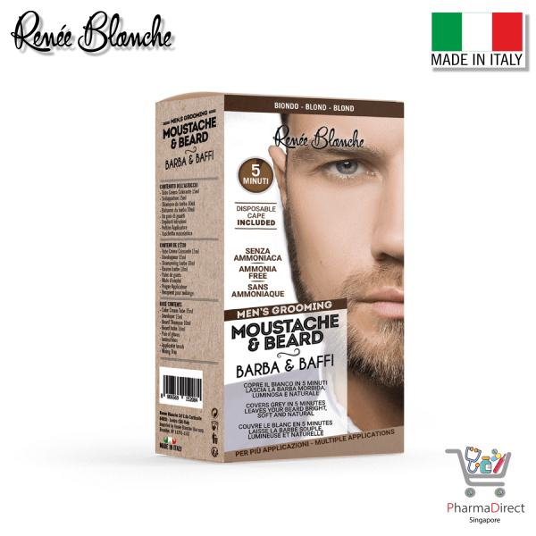 Buy Renée Blanche Mens Grooming Moustache & Beard Brown Made in Italy Singapore