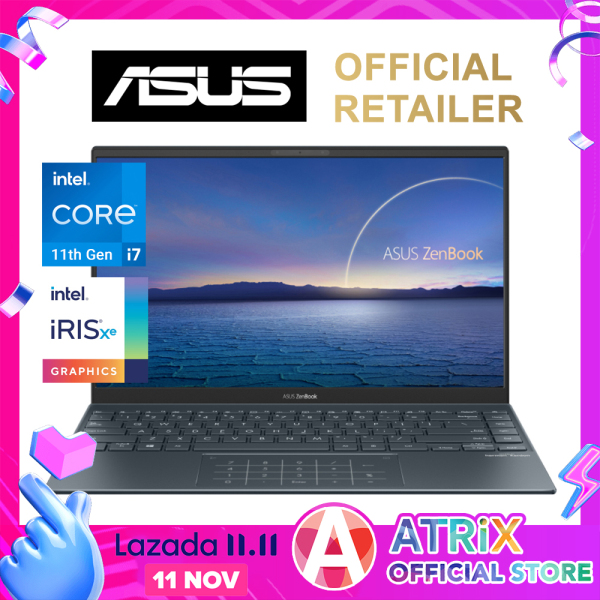 【intel 11th Gen】2020 ASUS ZenBook 14 UX425EA-BM024T〖Free Office 2019〗14inch FHD 100% sRGB 300nits | 16GB DDR4X RAM | i7-1165G7 | Iris Xᵉ Graphics | Win10 Home | 2Yr ASUS Warranty | UX425 UX425JA Zenbook 14