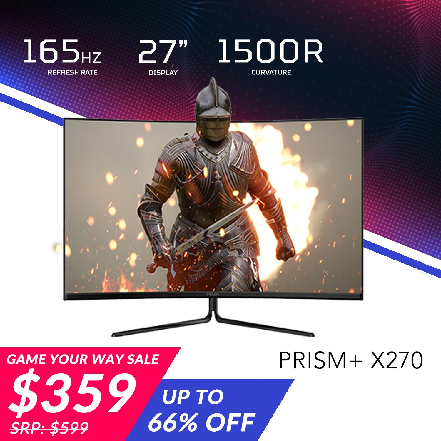 PRISM+ X270 27 165Hz Curved Freesync Gaming Monitor [1920 x 1080]