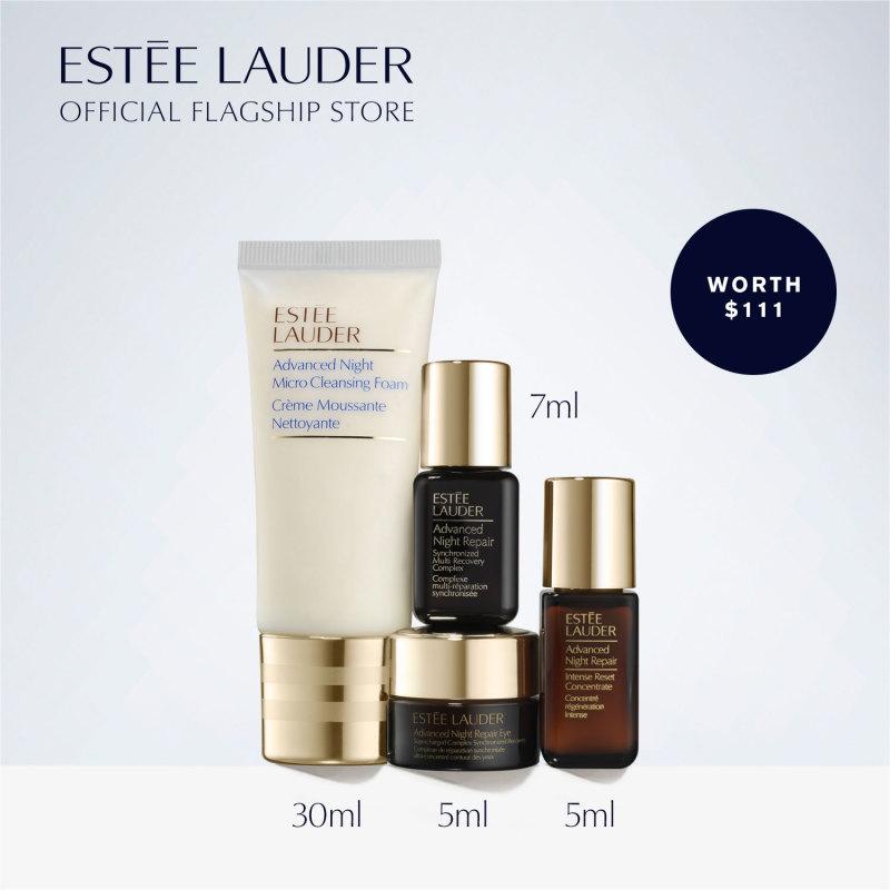 Buy [Limited Edition] Estee Lauder - 4-pcs Skincare Set including Advanced Night Repair Serum 7ml (worth $111) • S.O.S. Skincare: Repair + Glow Essentials Singapore