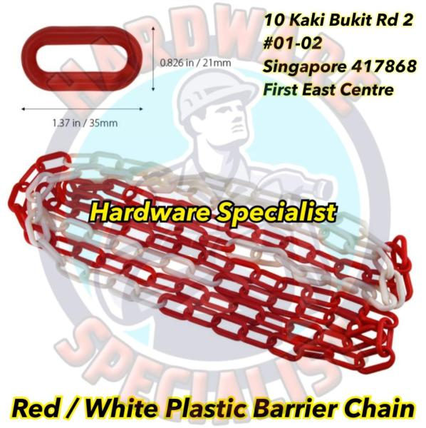 Durable Red And White Safety Barrier Plastic Chain / Safety Chain / PVC Safety Chain