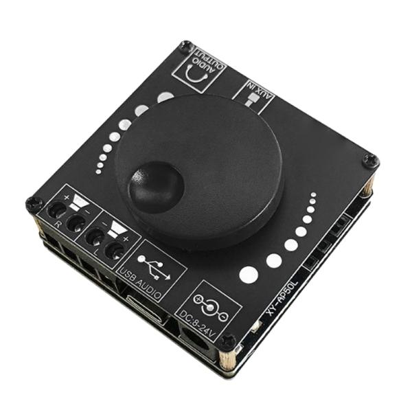 Mini Bluetooth 5.0 50W+50W Wireless Audio Power Digital Amplifier Board Stereo Amp 3.5MM AUX USB APP