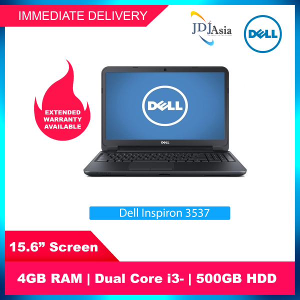 [Immediate Delivery] Refurbished Dell Inspiron 3537 15.6 Inch Core i3 4GB 500GB HDD Win10 [Up to 24 Months Warranty]