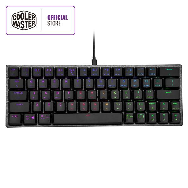 Cooler Master SK620 Low Profile 60% Mechanical Keyboard, Ergonomic Keycaps, Brushed Aluminum Design, Multiple OS Support Singapore