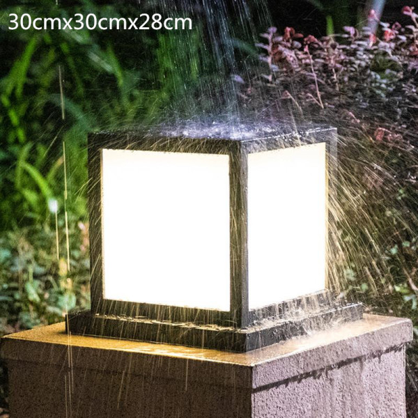 IP55 Waterproof Outdoor Lamp  Iron Post LightsCreative Pillar Lights Electric style Balcony Residential Villa Lighting