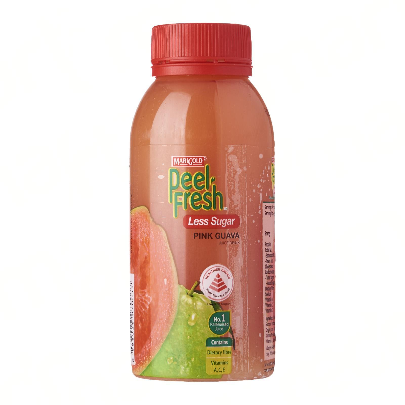 MARIGOLD Peel Fresh Less Sugar Juice Drink - Pink Guava 250ML