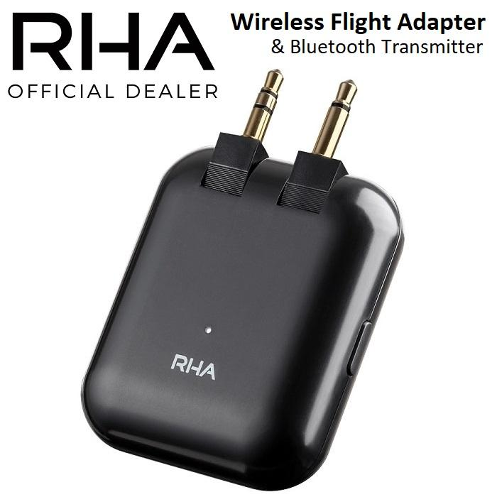 RHA Wireless Bluetooth Transmitter Travel Airplane Flight Adapter