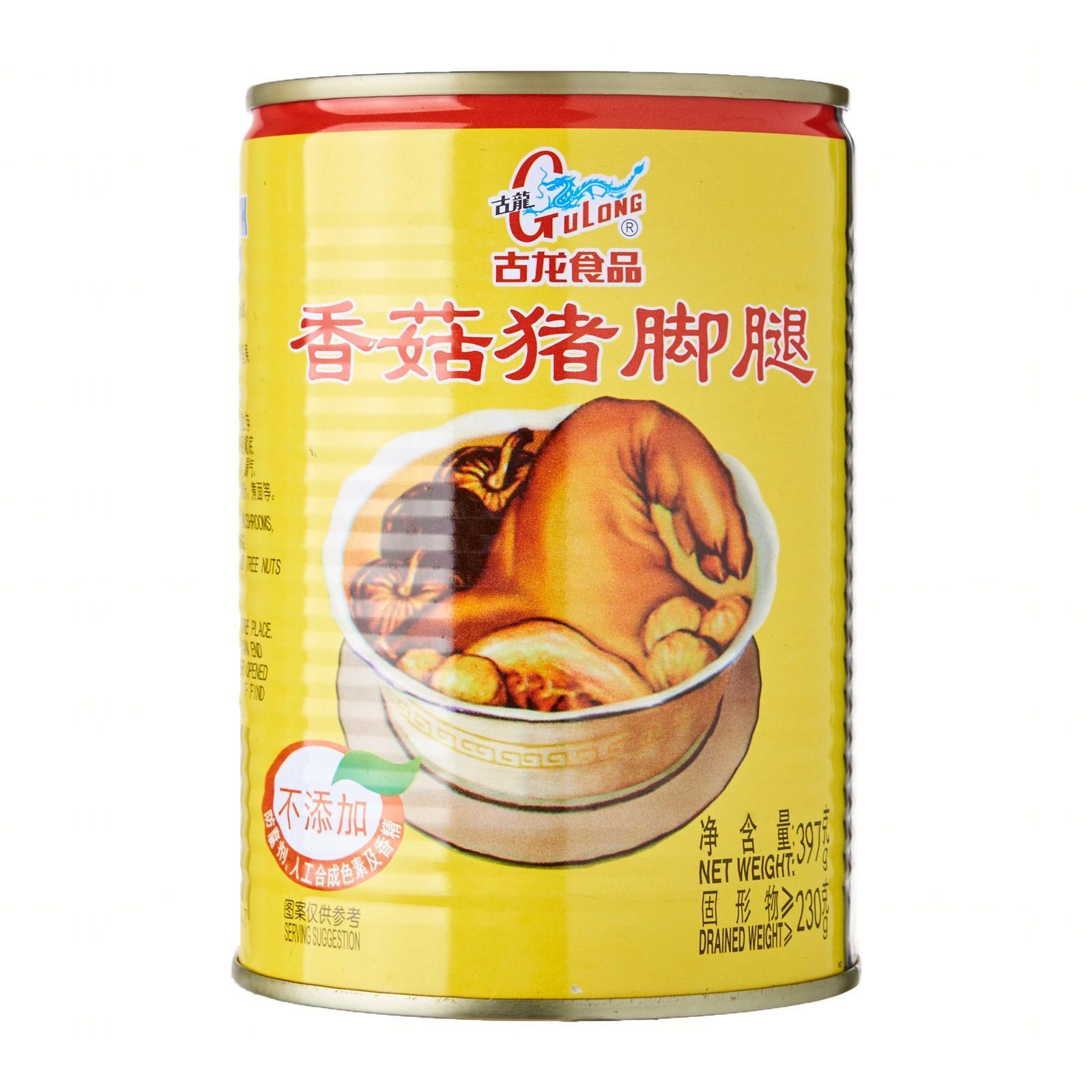 GULONG Braised Pork Leg With Mushroom 397g