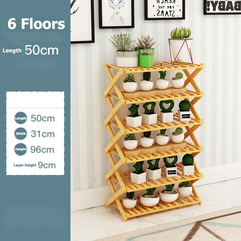 Folding shoe rack special price multi-layer simple wood simple home dormitory assembly nanzhu shelving(6 Floors-intl