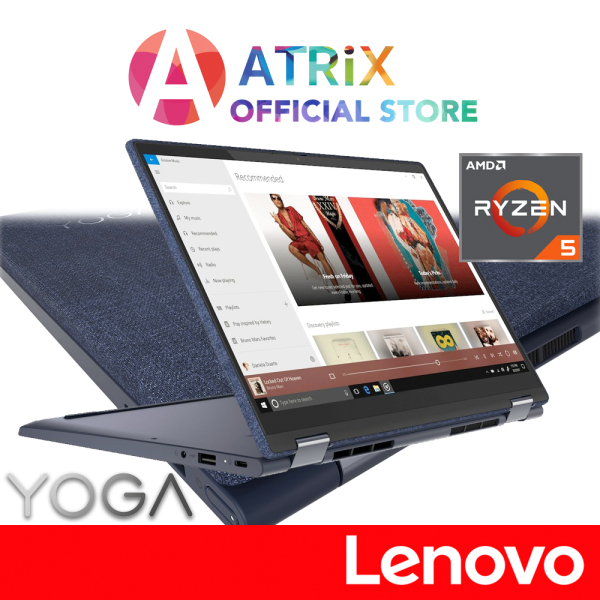 【Same Day Delivery】Lenovo YOGA 6 convertible 2-1 82FN0059SB | Fabric cover | 13.3inch FHD Touch Screen | Ryzen 5 Pro 4650U | 16GB RAM | 512GB SSD | Win10 Home | 2Y ADP