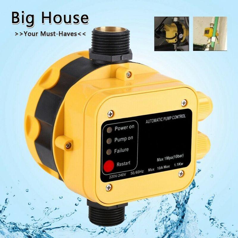 Big House Automatic Water Pump Pressure Switch Electric Controller w/Gauge  Home Accessories