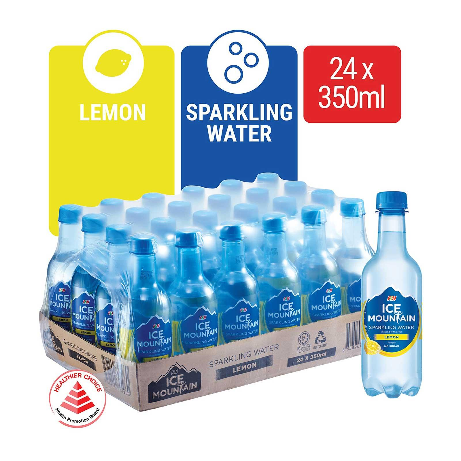 Ice Mountain Sparkling Water Lemon - Case