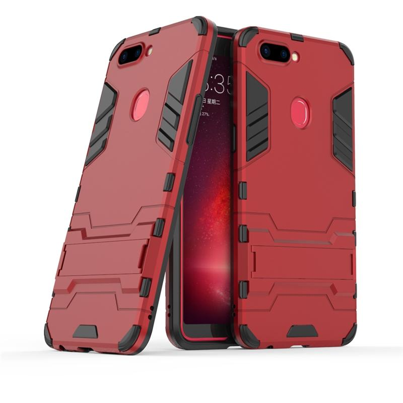Lightweight Hybrid Combo High Impact Rugged Shockproof Case Cover Protective Shield with Kickstand for OPPO R11s