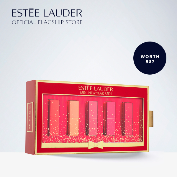 Buy [Holiday Special] Estee Lauder - 5-pcs Travel size Pure Color Envy Sculpting Lipstick, 1.2g each (worth $87) • Mini New Year Reds Singapore