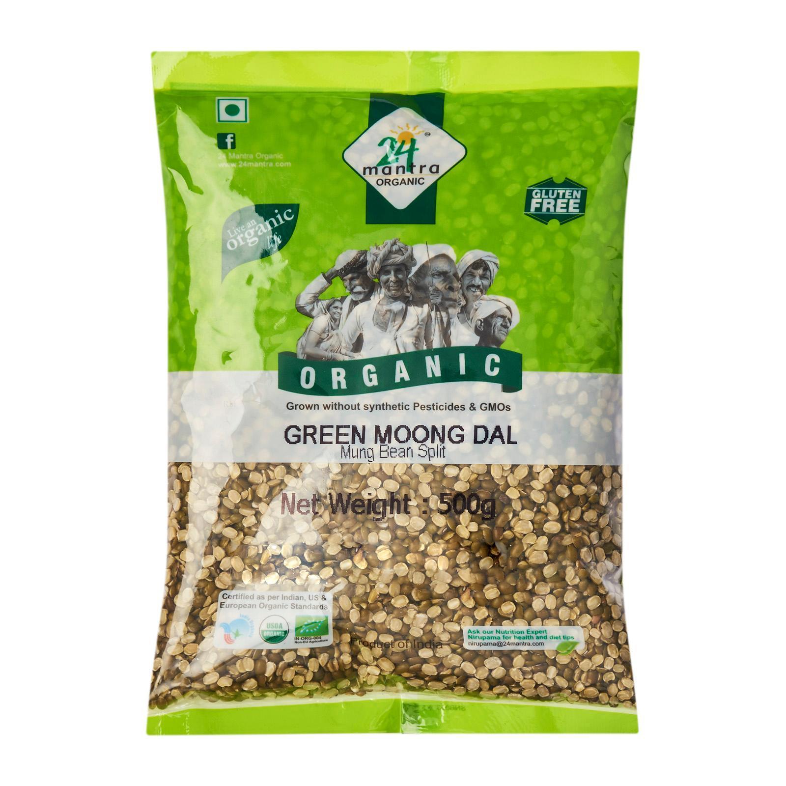 24 Mantra Organic Green Moong (Mung) Dal Split