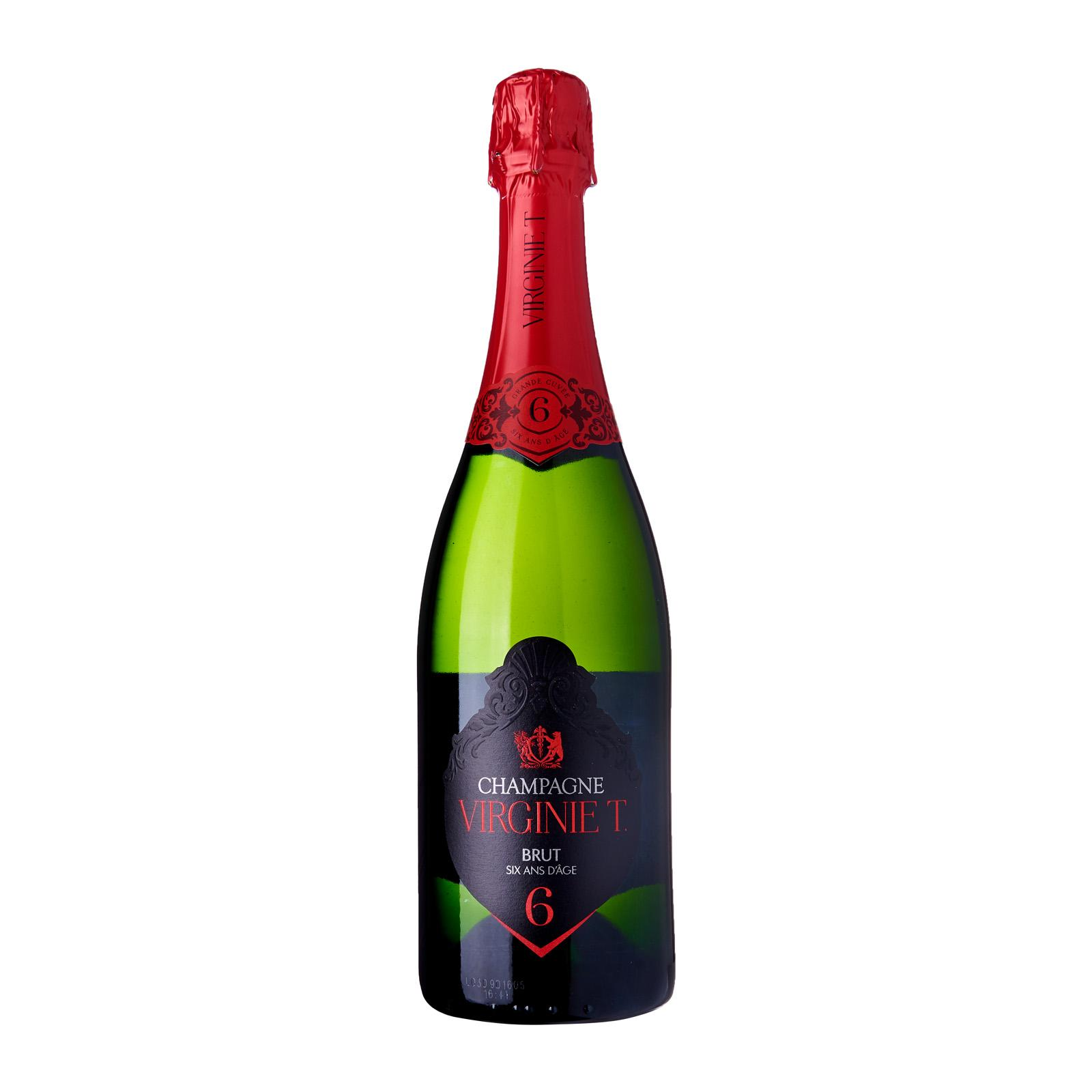 Champagne Virginie T. Cuvee 6 ans d'age with gift ice cooler box