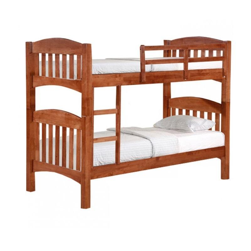 F50DD Solid Wood Double Decker Bed Frame