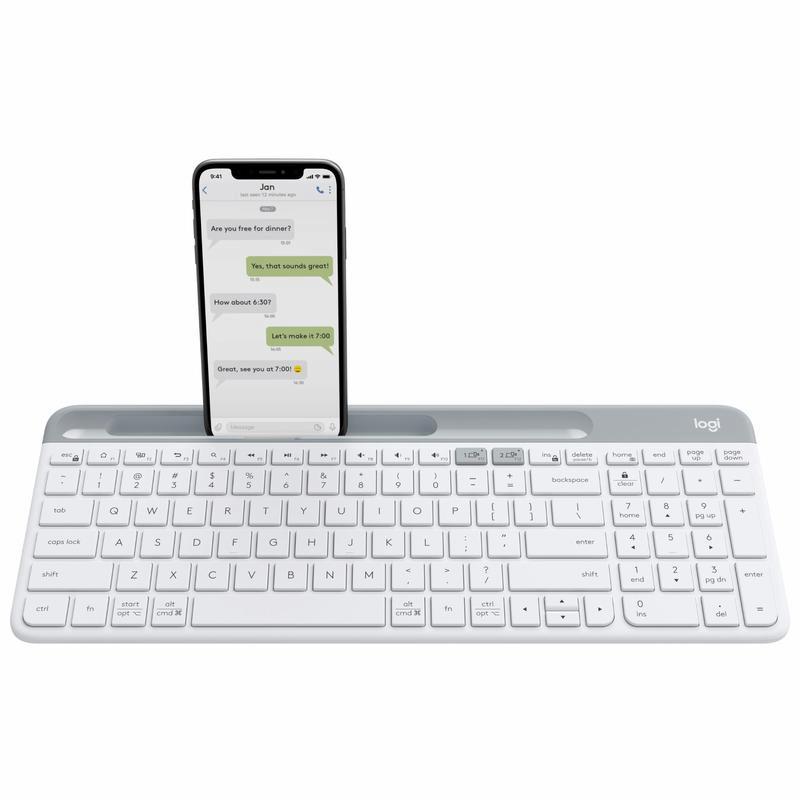 [SG Seller] Logitech K580 Slim Multi-Device Wireless Keyboard (Graphite/ Off White) Singapore