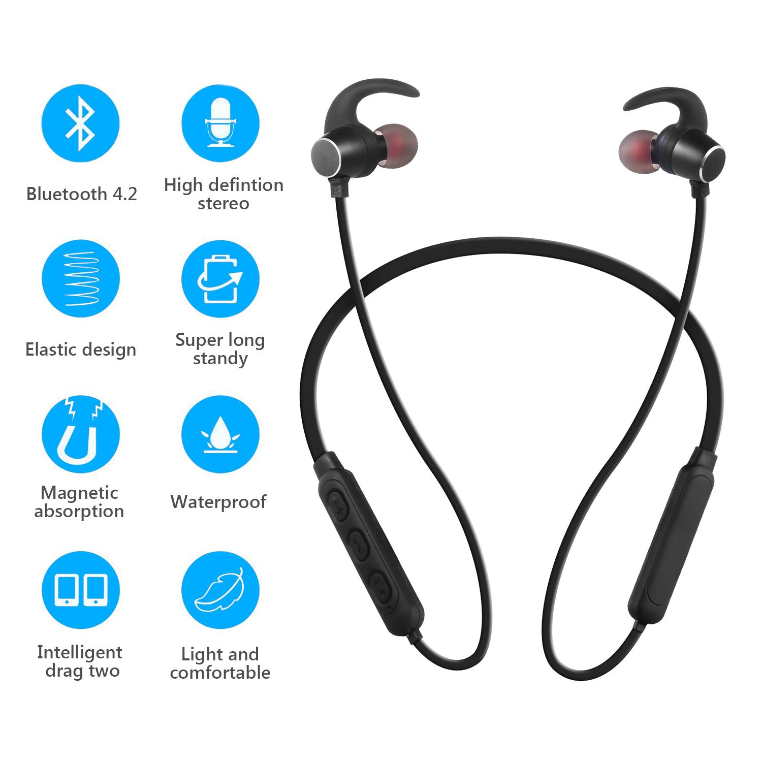 75fa0604f65 China. Bluetooth In Ear Neckband Earphone Wireless Sports Headphones  Magnetic Headset Handsfree with Microphone