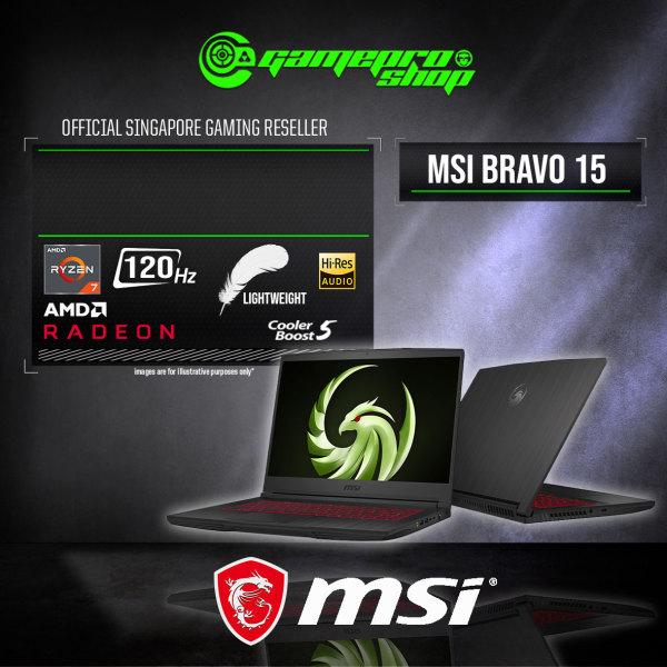 MSI Bravo 15 A4DDR Gaming Laptop (R7-4800H /AMD RX5500M 4GB GDDR6/8GB /512GB SSD/ WIN 10/15.6 120hz)-A4DDR-063SG(2Y)