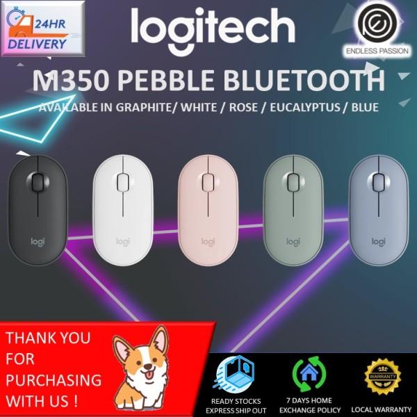 Logitech Pebble M350 Wireless Mouse (Black/White/Pink)
