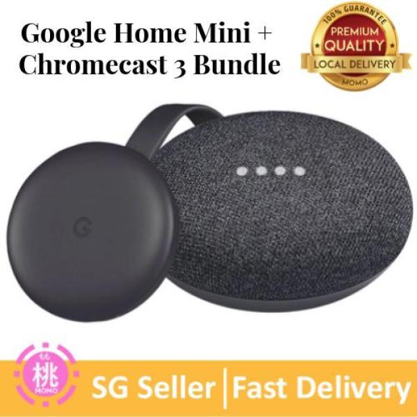 Google Home Mini ( Chromecast Ultra or Chromecast 3rd Gen Bundle Kit ) Google Smart TV Kit Singapore