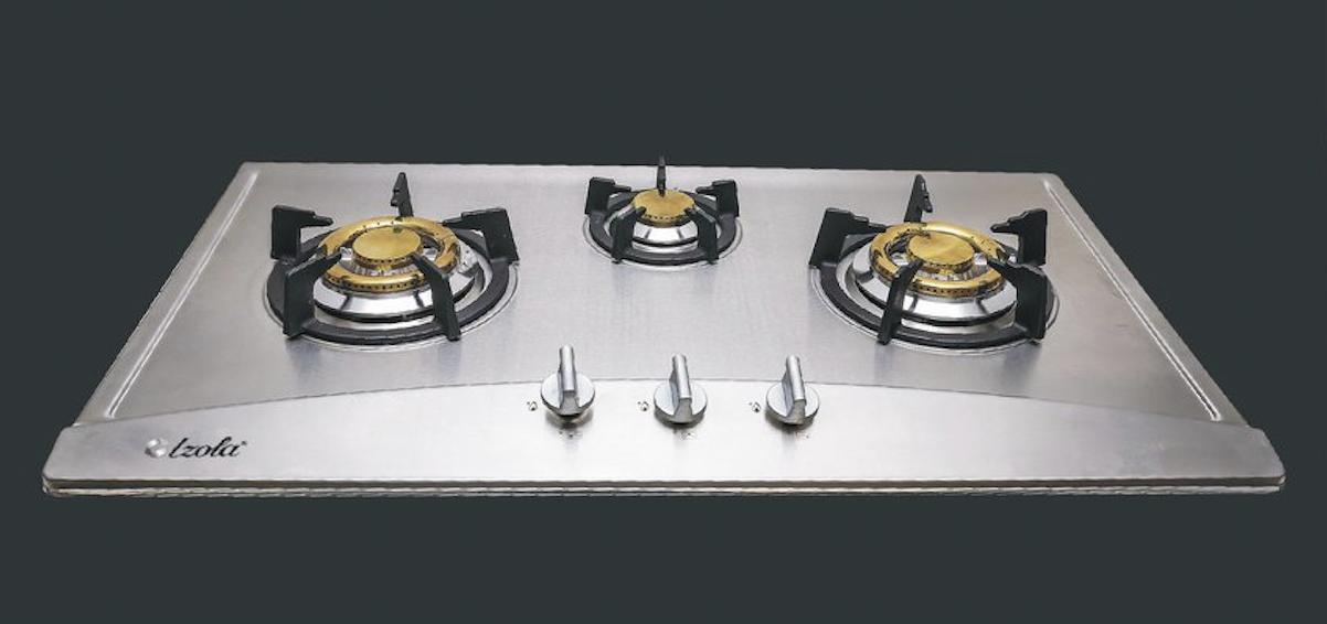 Izola S-368 Stainless Steel Built-In Hobs 3-Burner By Src International.
