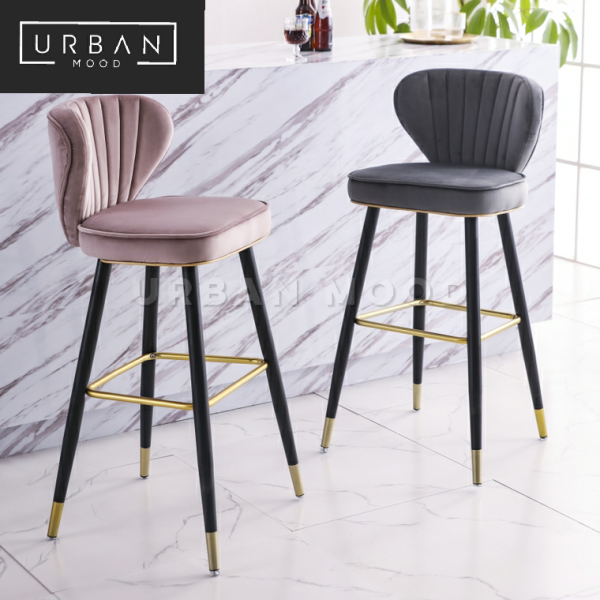 [Pre-Order] CORAL Luxury Velvet Bar Chair