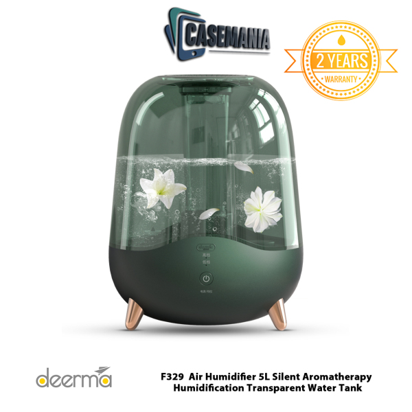 Deerma F325/F329 Air Humidifier 5L Silent Aromatherapy Humidification Transparent Water Tank Singapore