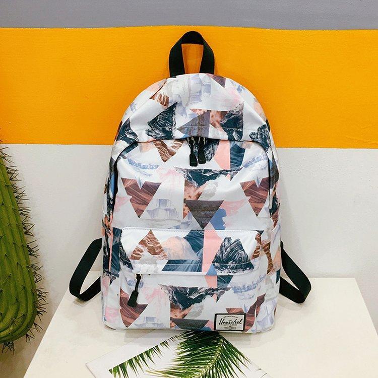 2019 New Style Printed Vendange Sense INS Hipster Backpack Korean Style Harajuku Wind Girls Heart Schoolgirl School Bag