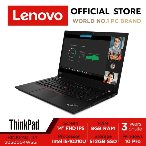 【Same Day Delivery】ThinkPad T14 |20S0004WSG | 14inch FHD IPS | i5-10210U | 8GB RAM | 512GB SSD | Win10 Pro | 3Y warranty
