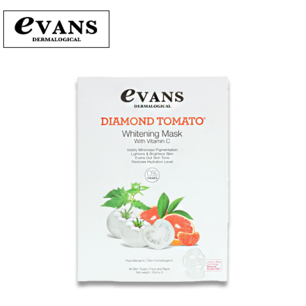 Buy Evans Dermalogical Diamond Tomato Whitening Mask with Vitamin C Singapore