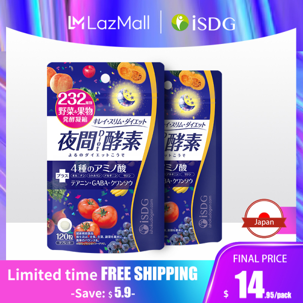 Buy ISDG Night Enzyme Tablets Health Supplyment Fruit and vegetable fermentation Diet Pills Weight Loss Product Burn Fat. 2 Pack Singapore