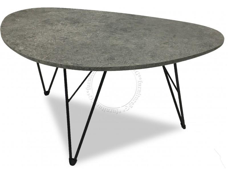 Scandinavian Minimalist Industrial Style Coffee Table Metal legs