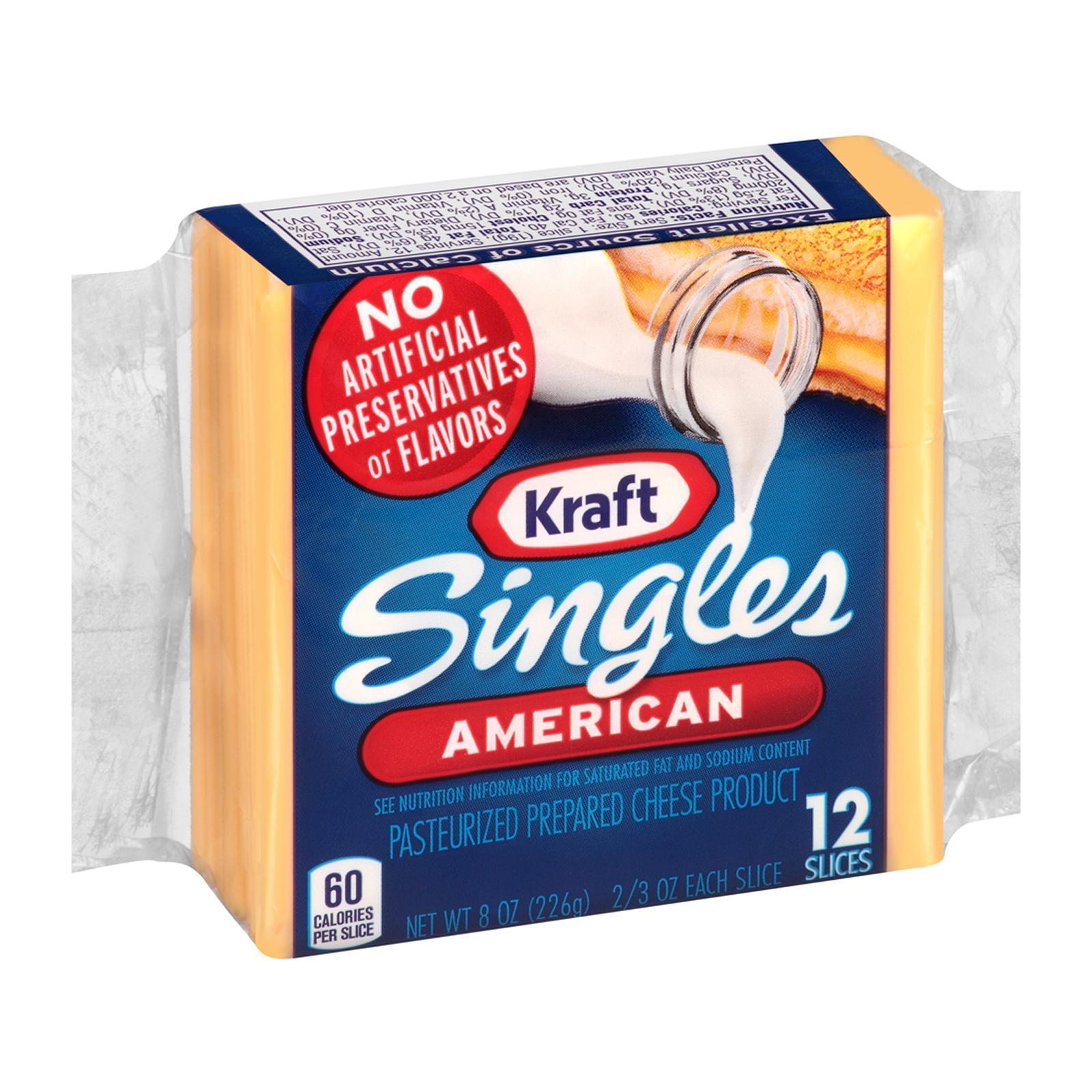 Kraft Hi- Calcium Singles Cheese Slices - 12 Slices