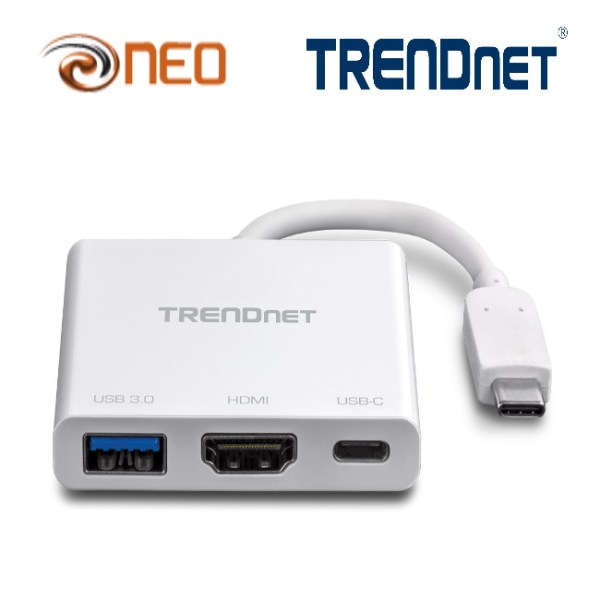 TRENDnet USB-C to HDMI Adapter with USB 3.0 port and PD sup