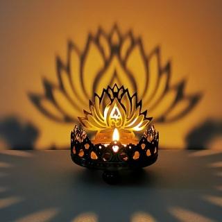 Nến Phật Bơ Đèn Phật Di Lặc Ngồi Phật Sen Ấn Độ Đặc Biệt Kim Loại Rỗng Khắc Ánh Sáng Và Bóng Nghệ Thuật Nến thumbnail