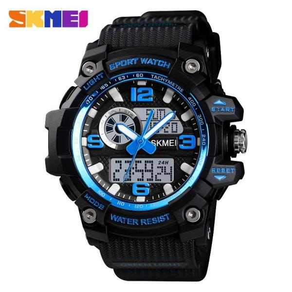 Black Science and Technology Dual MENS Watch Multi-functional Swimming Waterproof Stopwatch Countdown LED Electronic Watch MENS Watch WOMENS Watch Malaysia