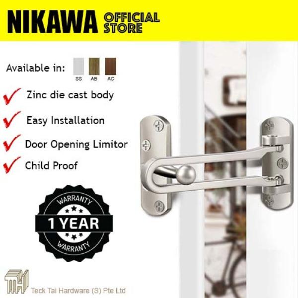 NIKAWA Door Guard PDZ-1. Door Restrictor, Door limiter, Door bolt, Security and Safety