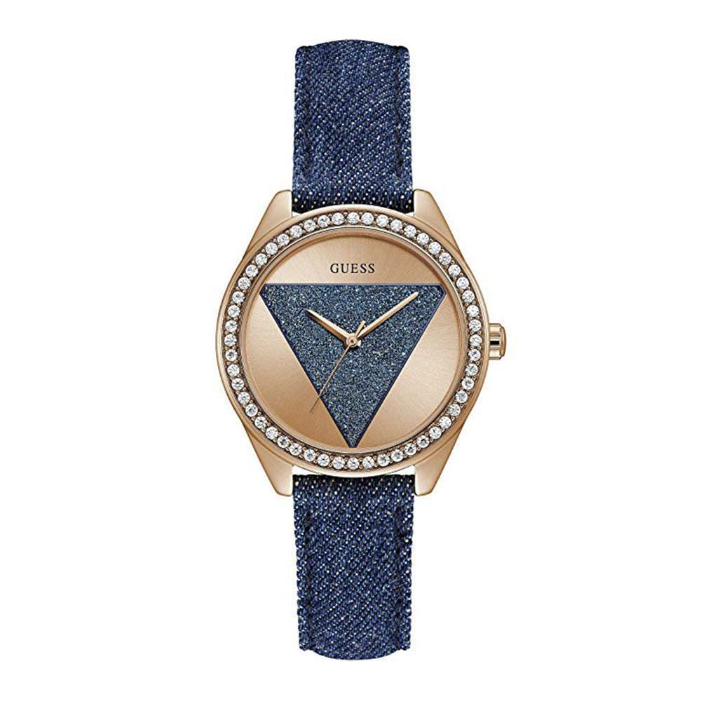 ec0a8afe7c405 GUESS TRI-GLITZ ANALOG W0884L7 STAINLESS STEEL ROSE GOLD WOMENS WATCH